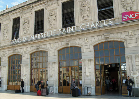 Saint Charles Train Station in Marseille France