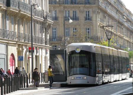 Tram System in Marseille France